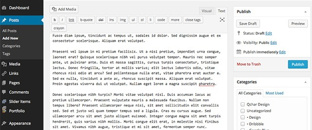 WordPress 4.0 Intuitive Editing
