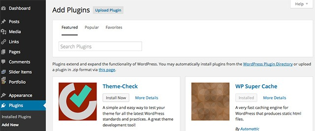 WordPress 4.0 New Plugins Browser